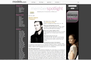 Article from Models.com about me
